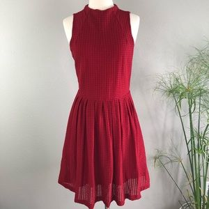 Anthropologie Dress Deletta Medium Red Sleeveless